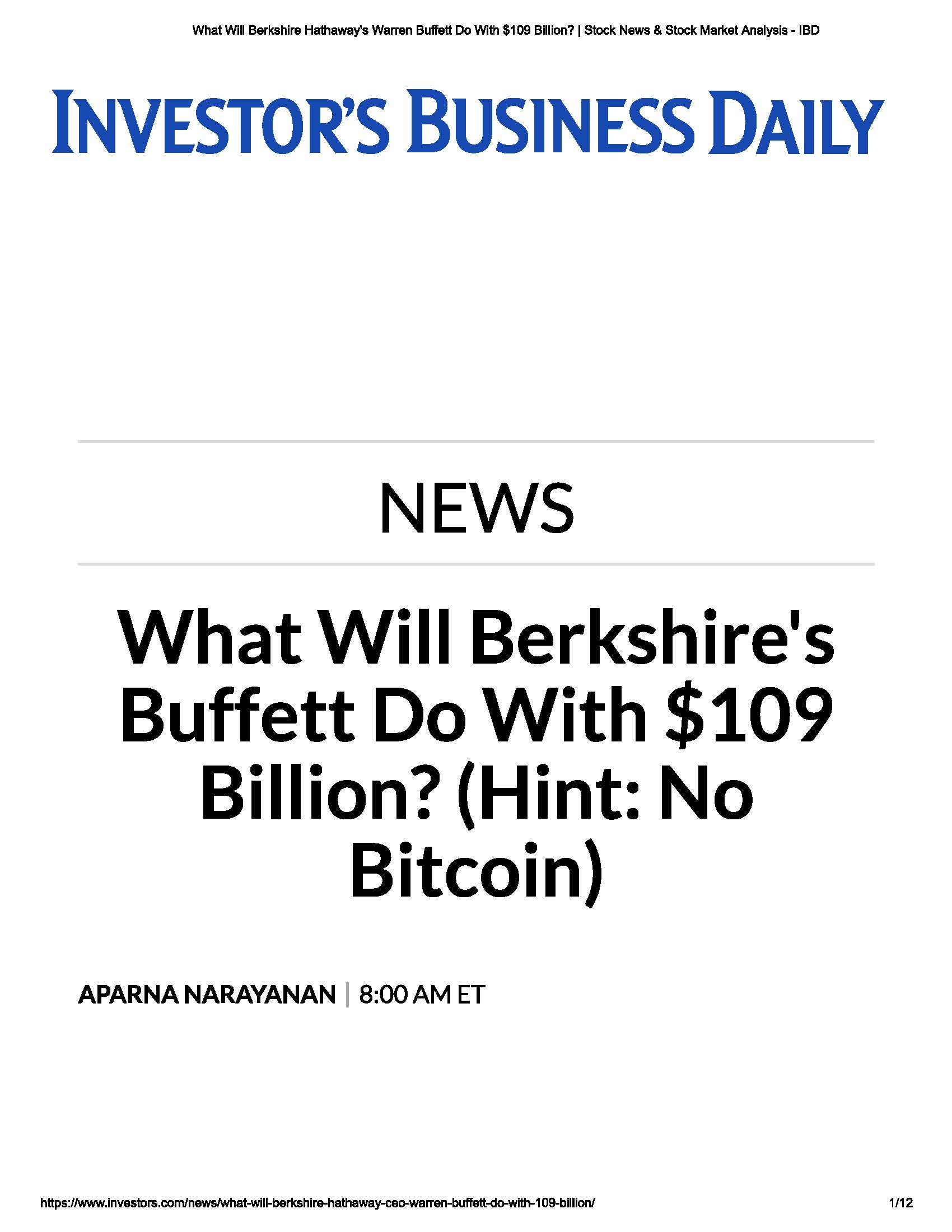 Investor Business Daily PDF