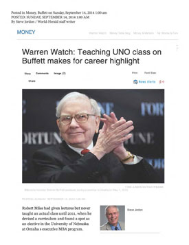 press/omahaWorldHerald/Warren Watch_Teaching UNO class on Buffett